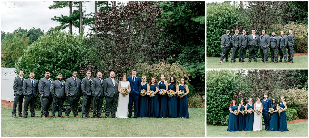 Navy Blue Sunflower Wedding Party Portraits