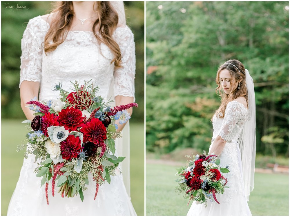 Southern Maine wedding bridal portraits