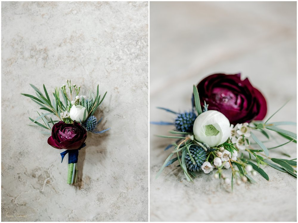 Groom's wedding boutonniere by Flour!