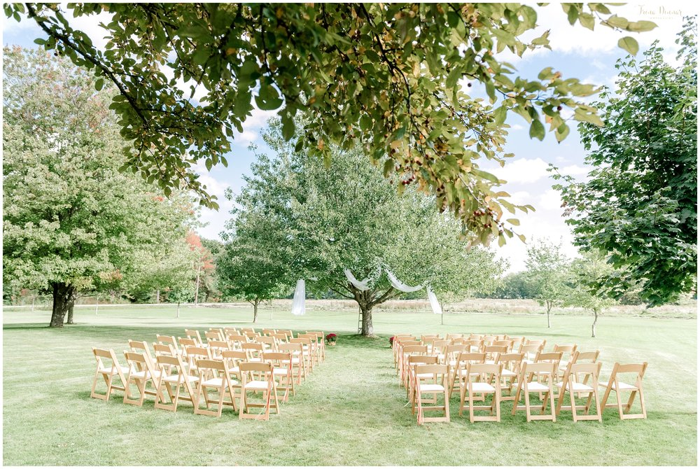 Outdoor private Wedding ceremony in Maine.
