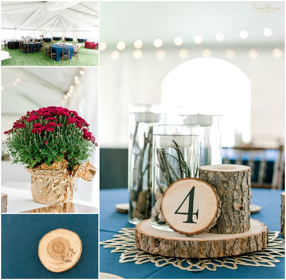 Handmade elegant rustic wedding reception centerpieces
