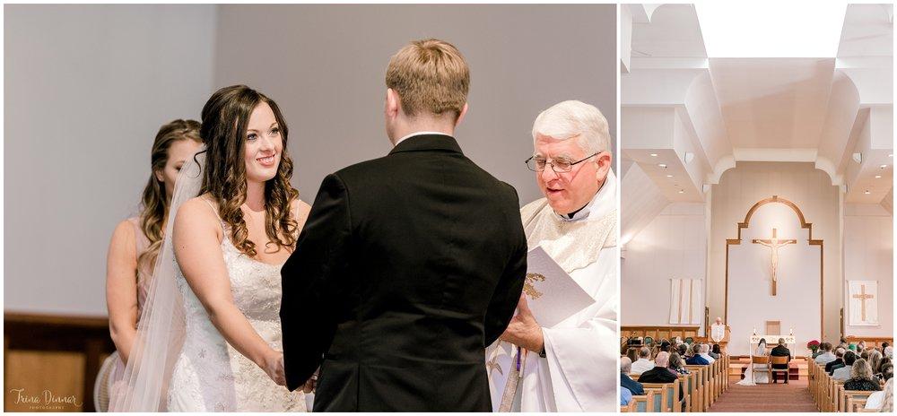 St. Maximilian Kolbe Parish wedding ceremony
