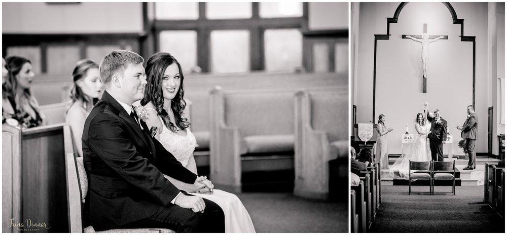 Lindsey and Evan's wedding at St. Maximilian Kolbe