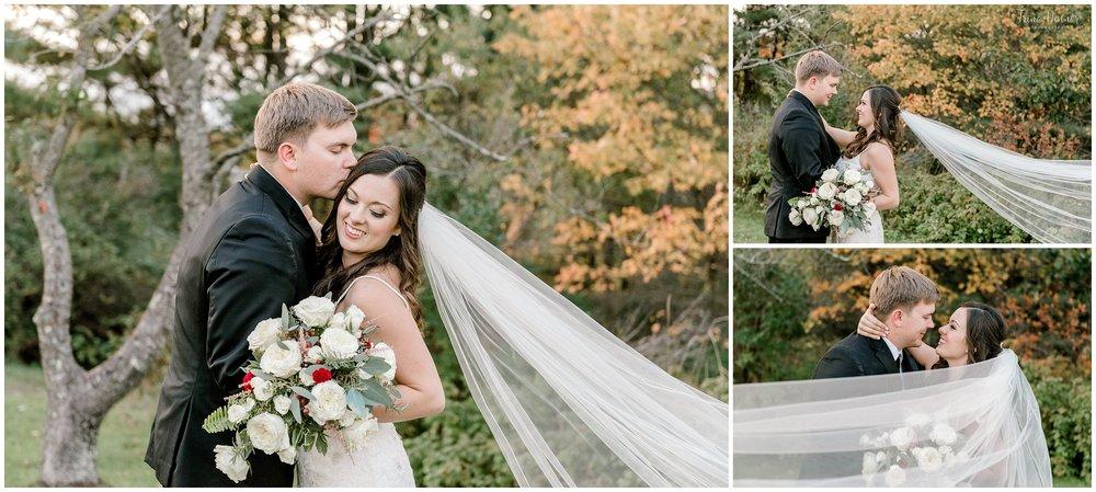Scarborough Maine fall wedding portraits