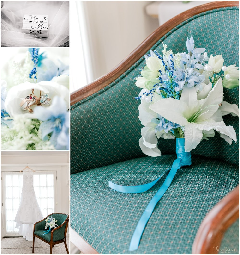 Photos of Mallori's lovely Maine wedding details.