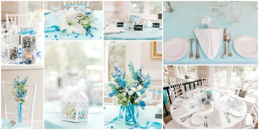 Gorgeous light blue Maine wedding decor