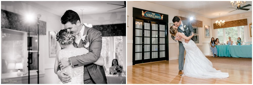 Mallori and James first dance during their wedding at Clay Hill Farm