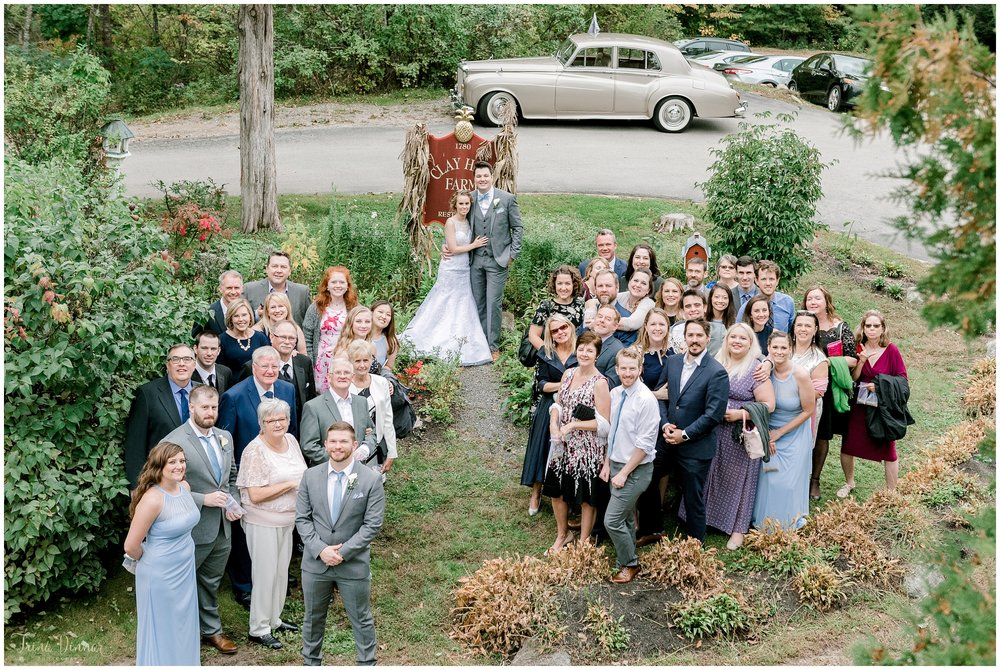 Group wedding photo at Clay Hill Farm