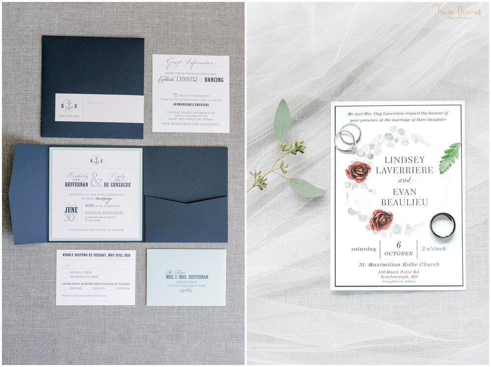 Favorite Maine Wedding Stationary in 2018.