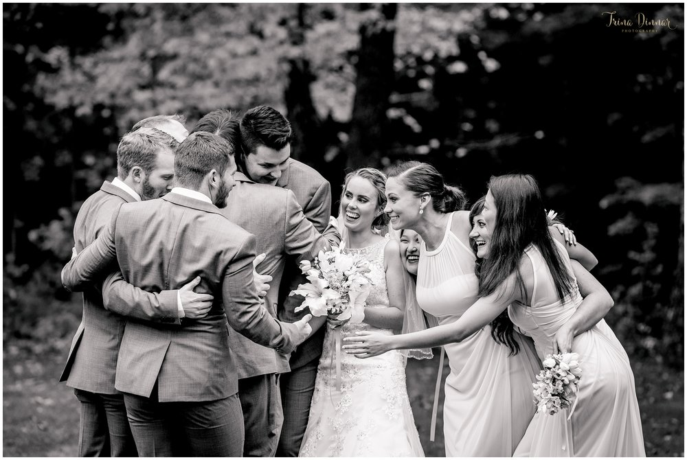 Clay Hill Farm Wedding Party Photo