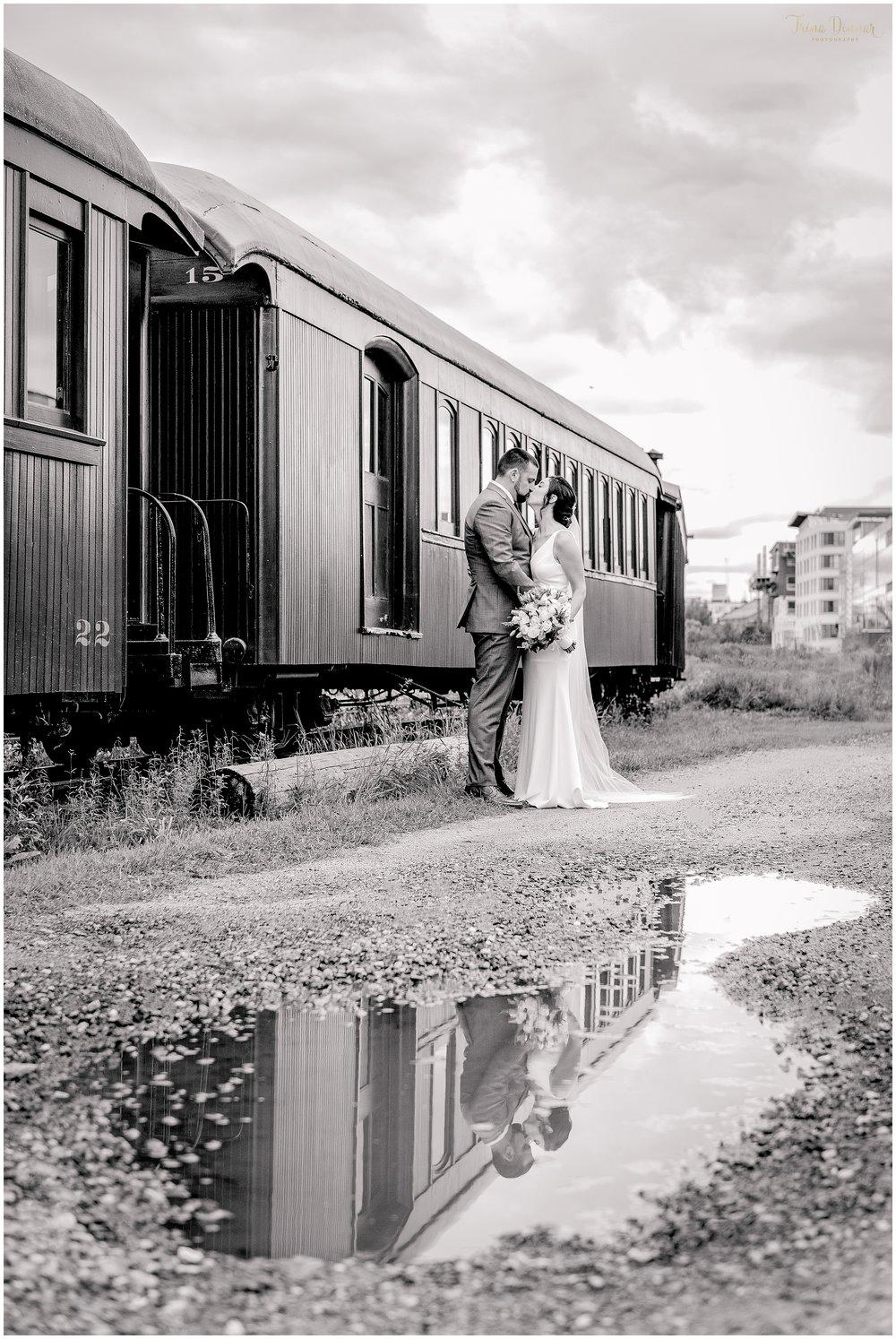 Lindsey and Chris' Portland Maine Train Wedding