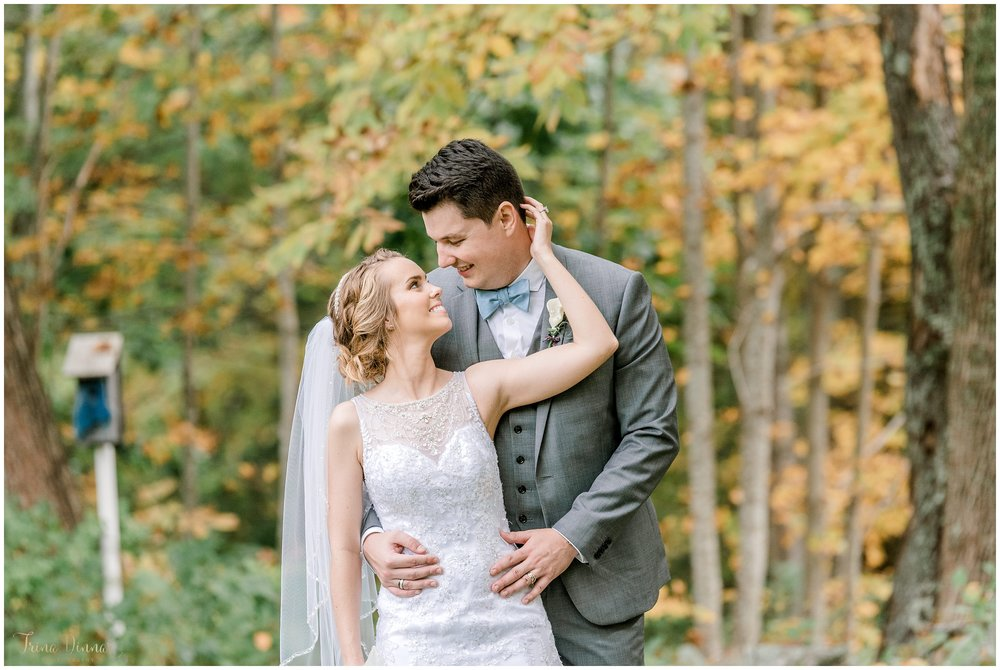 Fall Foliage Wedding Portraits in Maine
