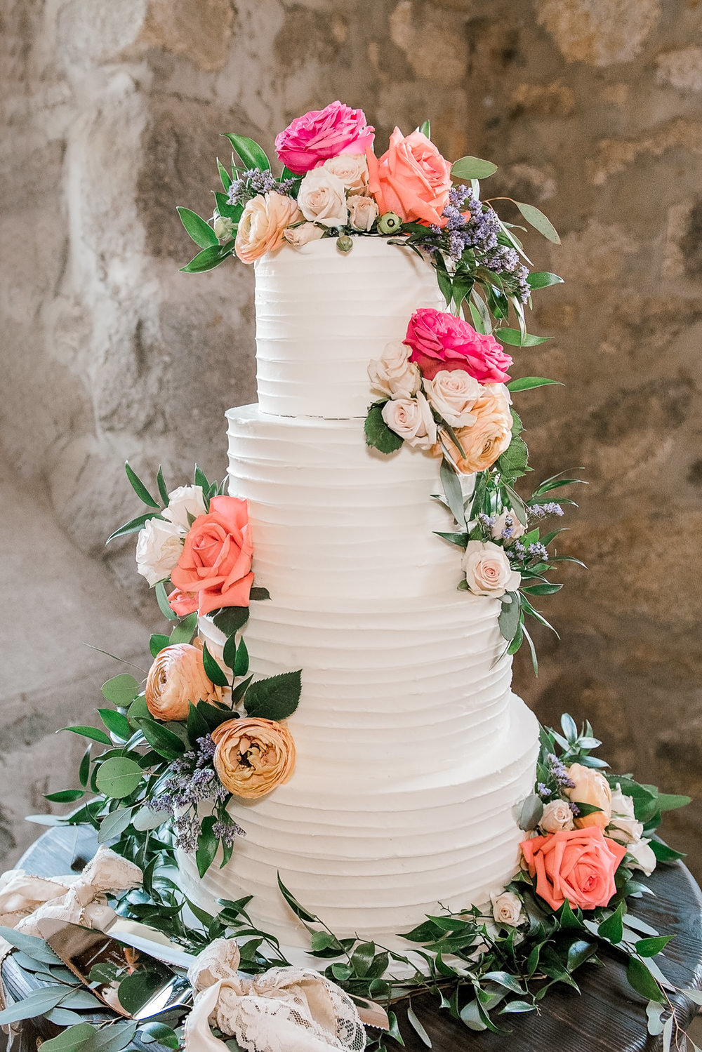 Stone Barn Standish Maine Wedding Cake