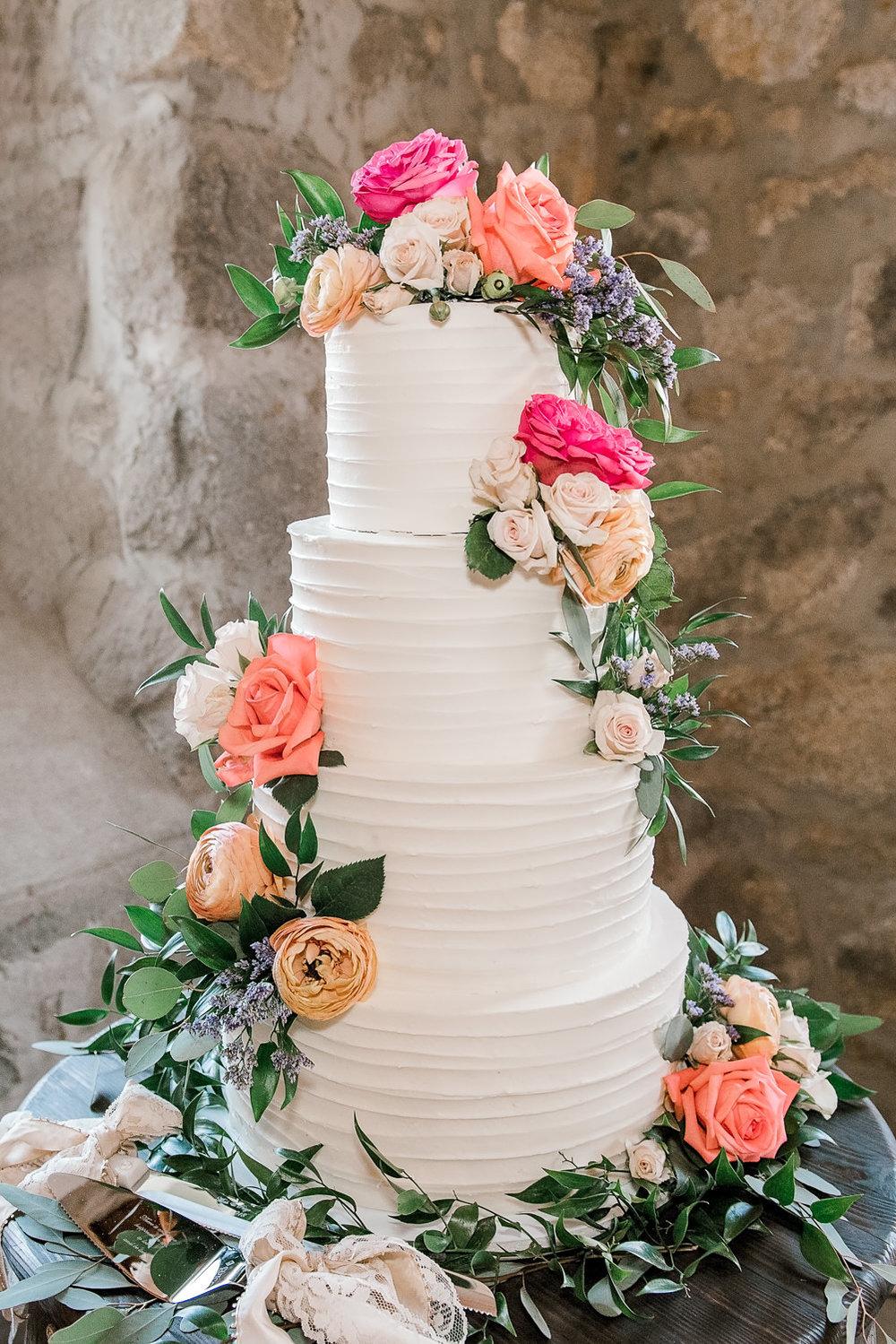 Stone Barn Standish Maine Wedding Cake
