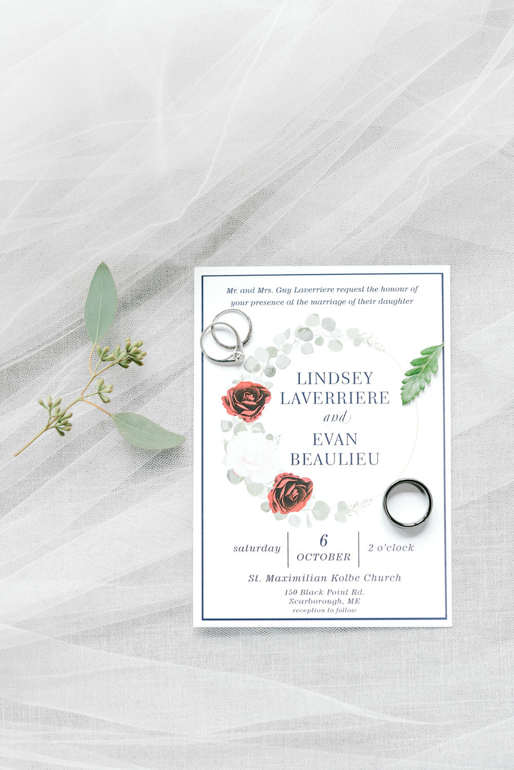St. Maximilian Kolbe Parish Scarborough Wedding Invitation