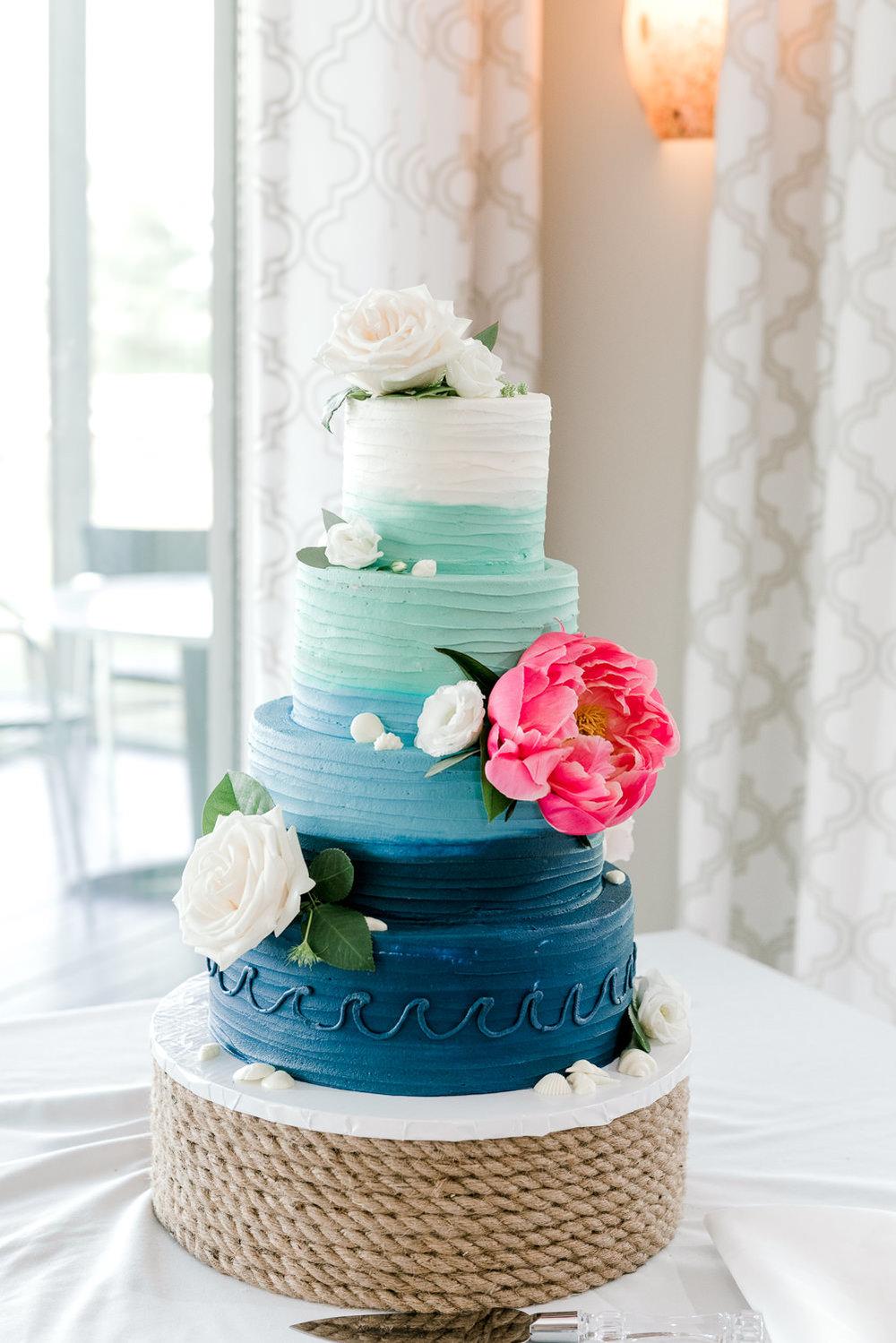 Wicked Sweet Sugar Boutique Maine Wedding Cake