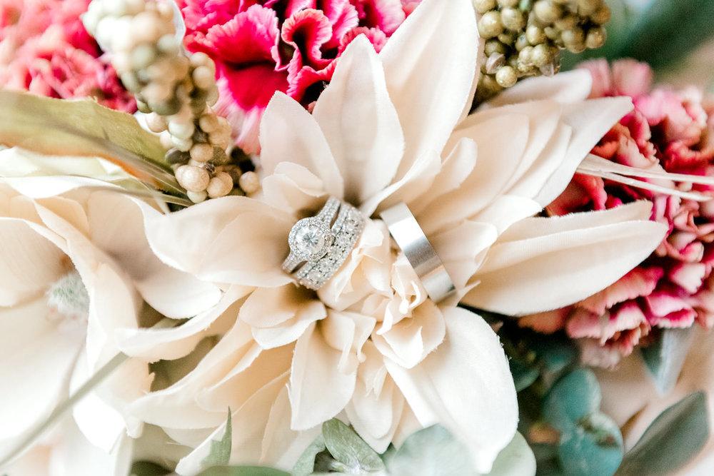Silk Wedding Flowers with Rings