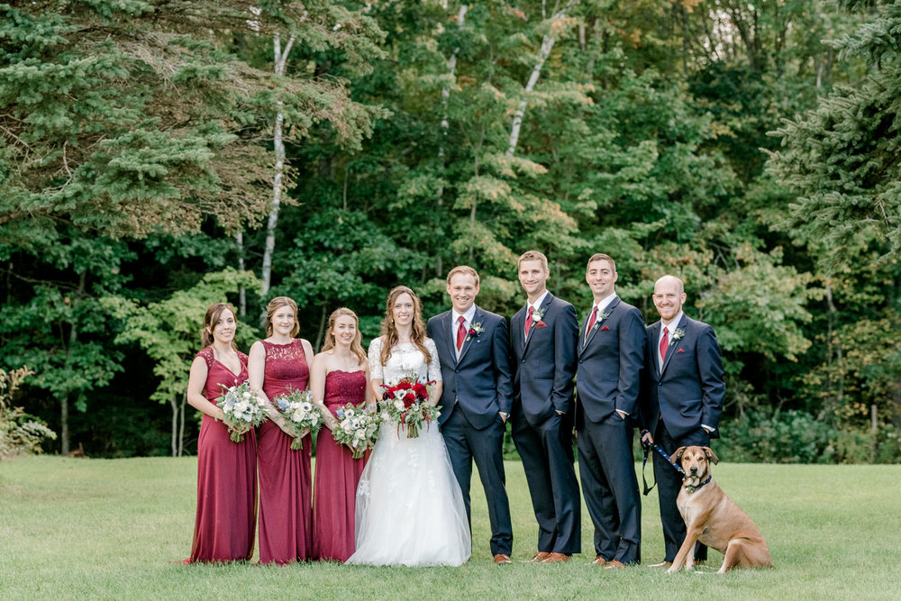 Wedding Party Photography with Dog