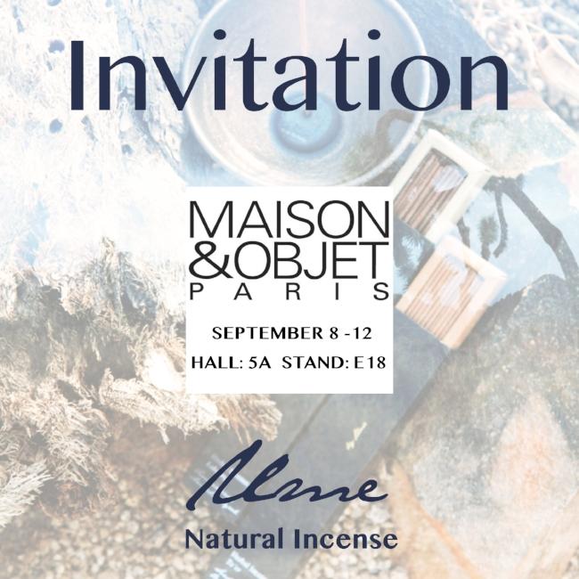 Maison objet paris settembre 2017 bastoncini di incenso naturale ume invito.jpg