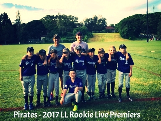 Pirates - 2017 LL Rookie Live Major Premiers
