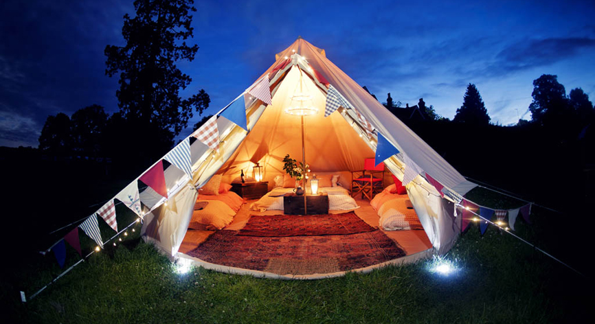 Jump on the trend & Go Glamping! Pamper guests with a backyard fusion of glamour & camping.