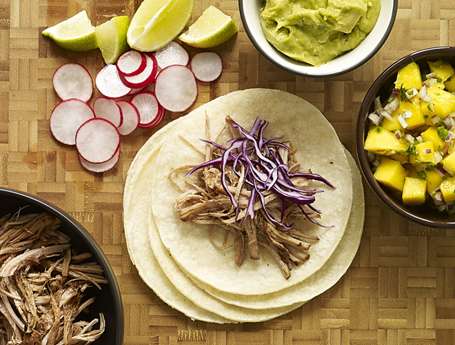 A big batch of    Beer Braised Pulled Pork Taco s will be appreciated by the carnivores & Mexican food lovers in your crew.... just setup a toppings bar, kick back, & enjoy the party!