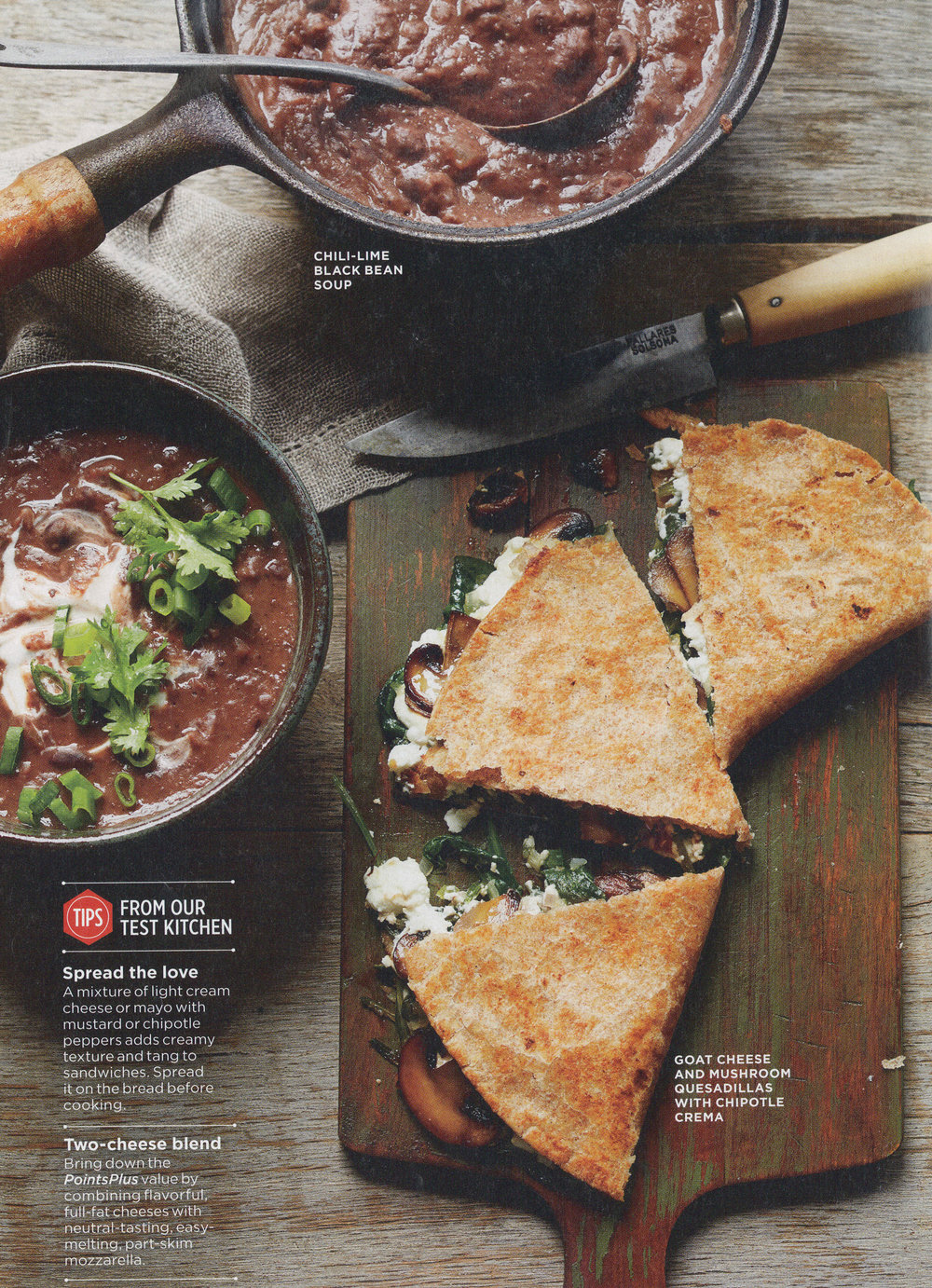 black bean soup with goat cheese quesadillas picture.jpg