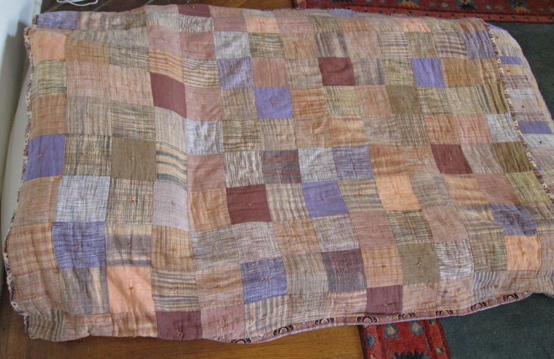 Given its relatively loose, handwoven quality, it's not great for precision quilting, but a blanket made of large khadi squares in different colors is a beautiful sight.