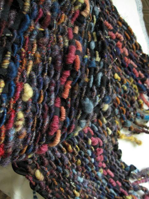 handspun corespun/coilwarp with kimono silk weft