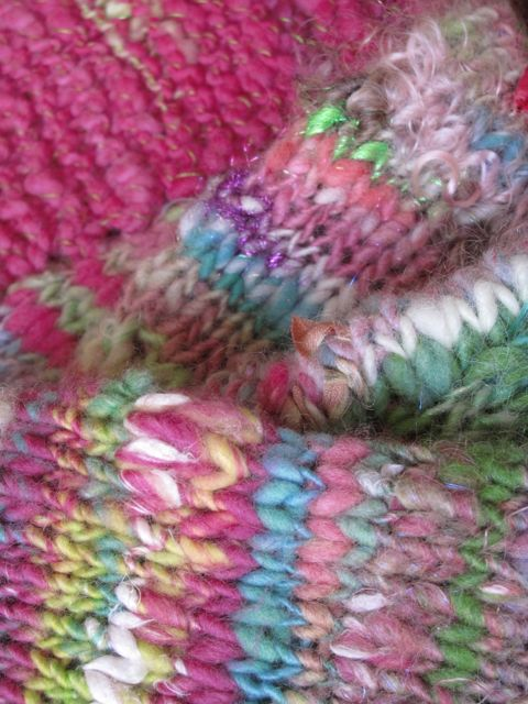 handspun shrug detail