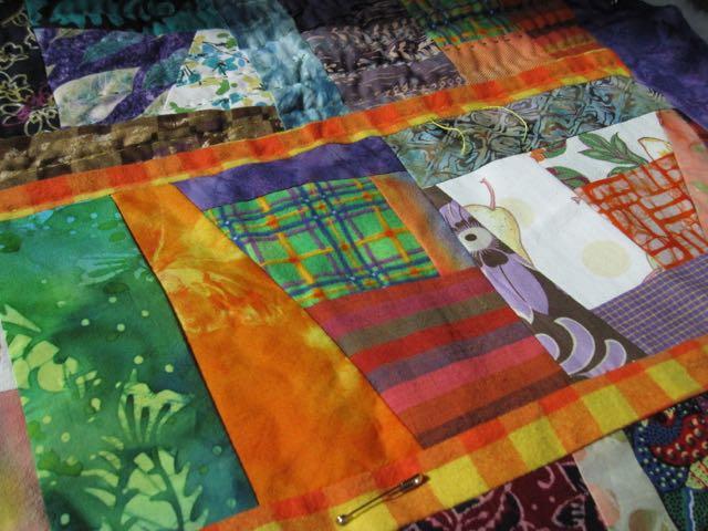 improvised quilt detail