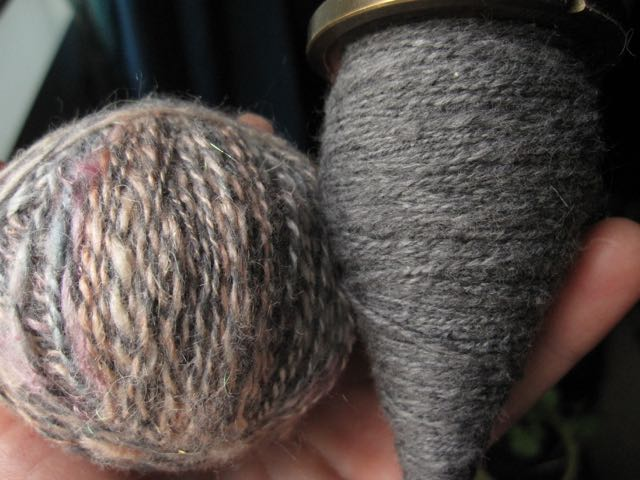 handspun cotton silk spindle cabled yarn
