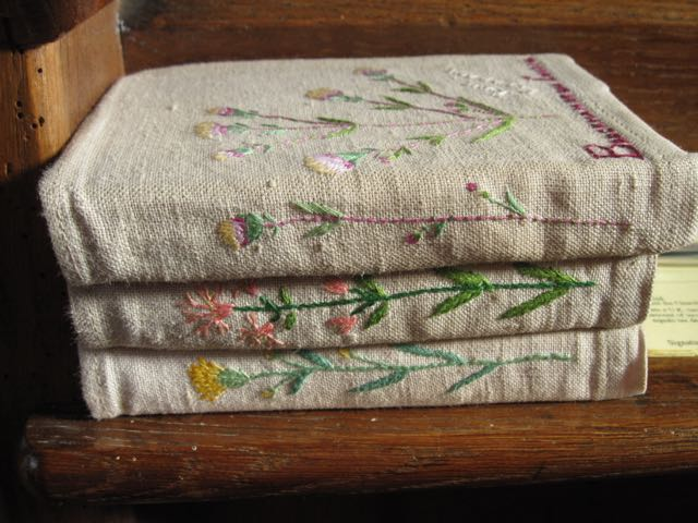 embroidered hymnals