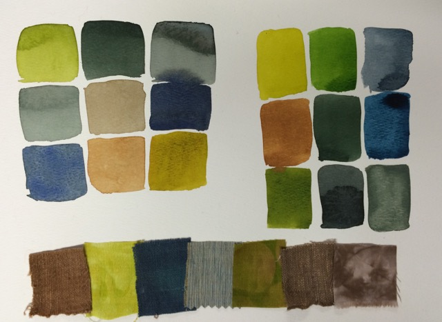 watercolor fabric palette