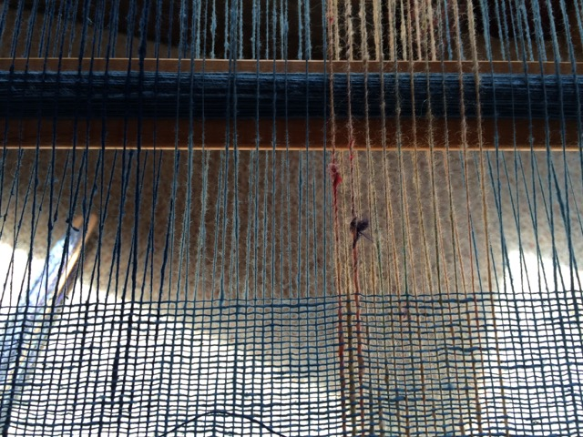weaving detail handspun cotton wool