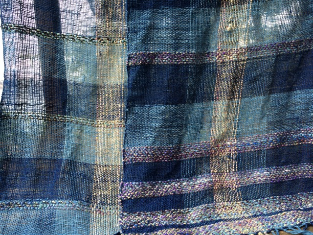 handwoven indigo cotton