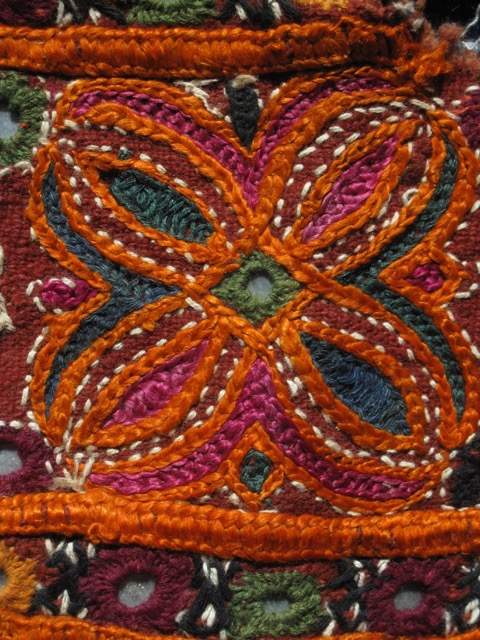 Detail from skirt border, Gujarati textile fragment