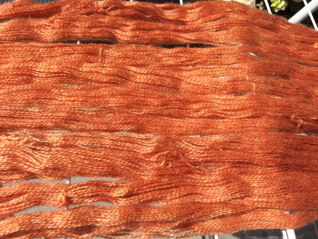 madder dyed yarns mohair