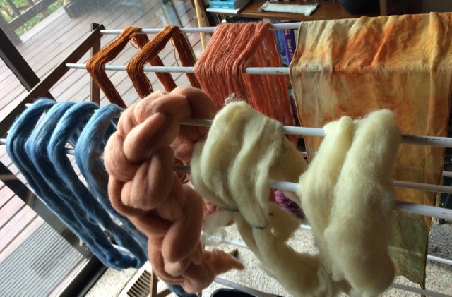 natural dyed fiber yarn