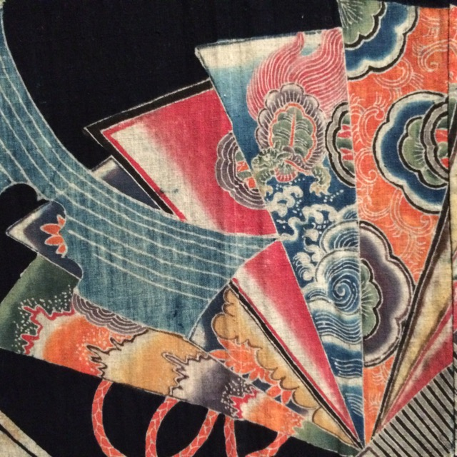 Detail from a Japanese resist-dyed robe
