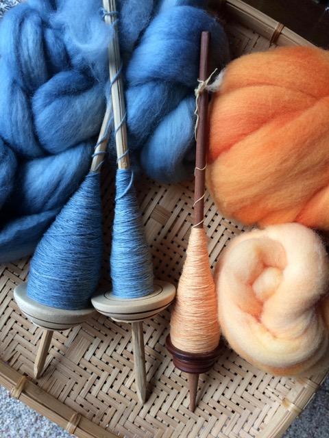 peruvian spindles handspun wool