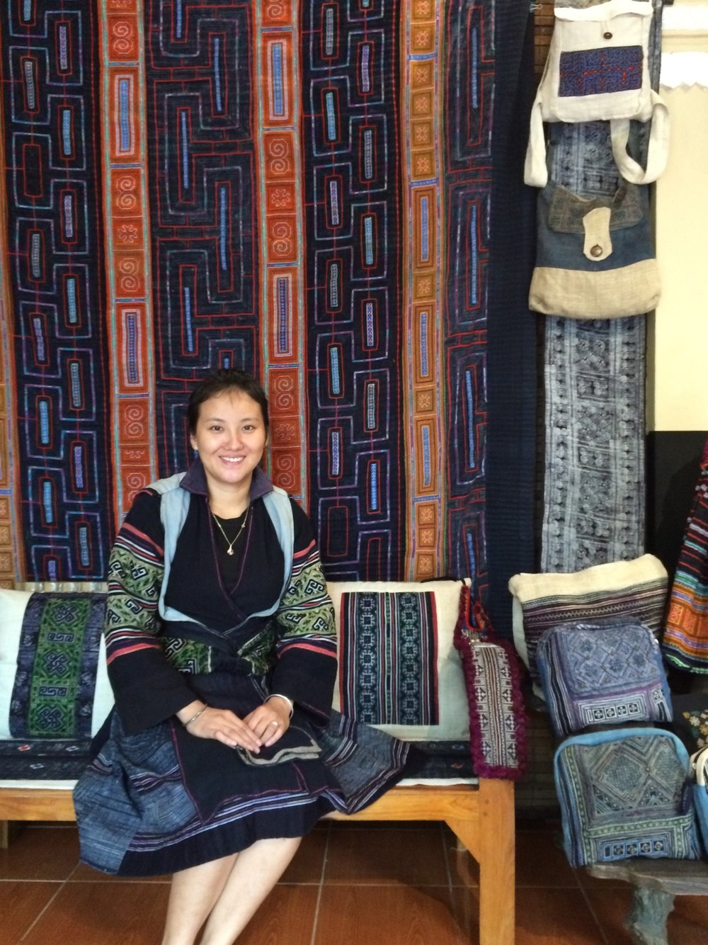 Hmong traditional dress textiles