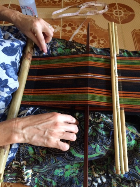 backstrap weaving loom