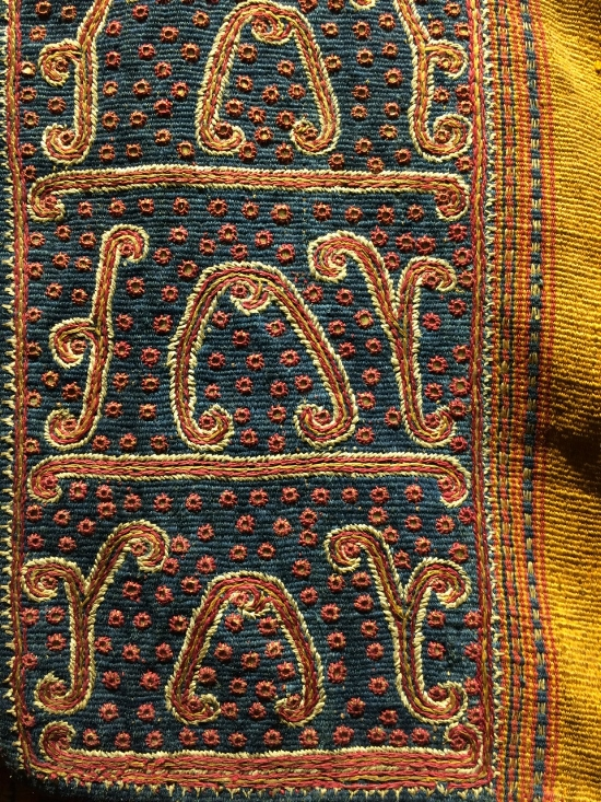 Jacket detail, handwoven and embroidered in Sumatra, late 19th/early 20th century.