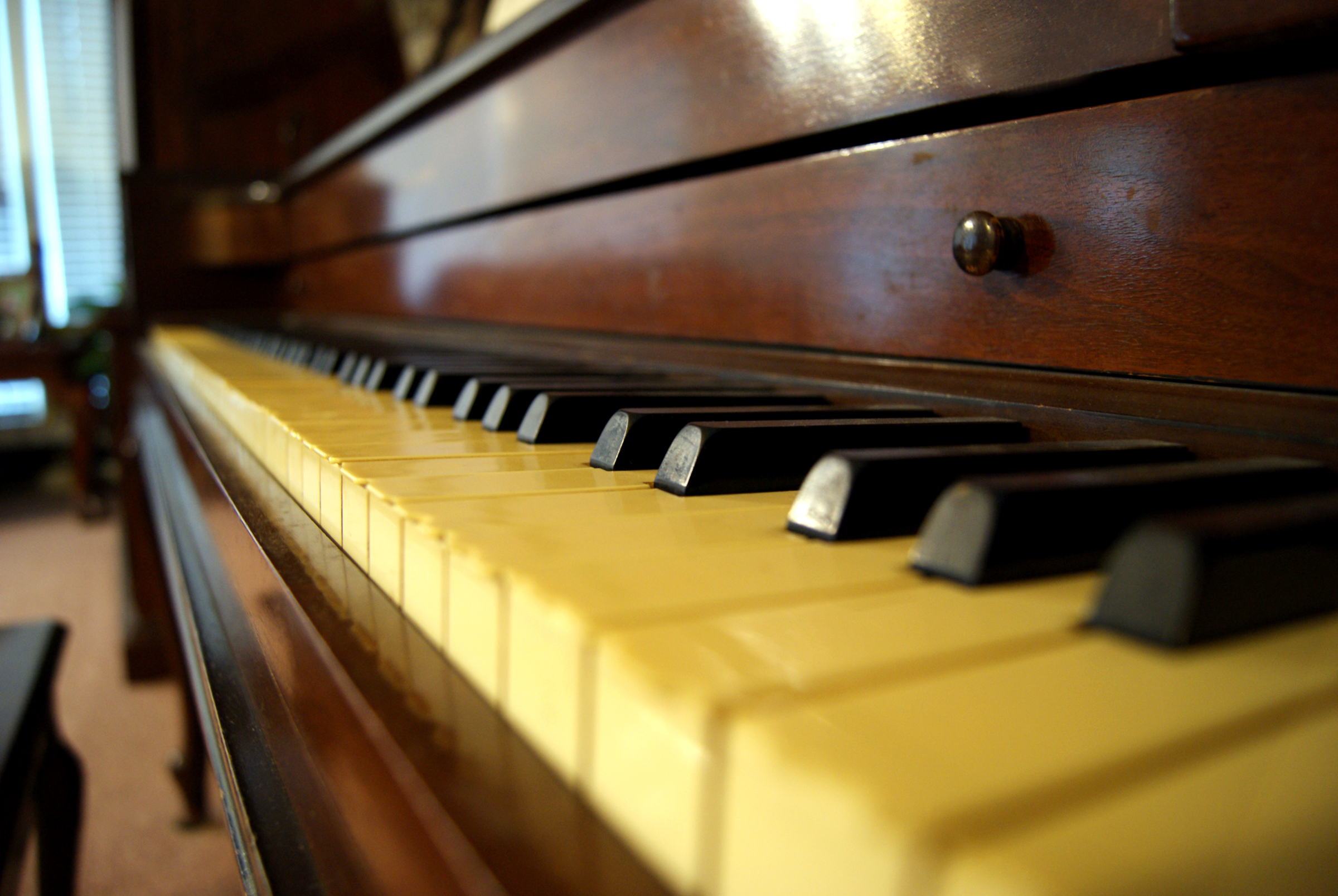 Close up of an Older Piano