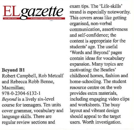 EL Gazette review of Beyond