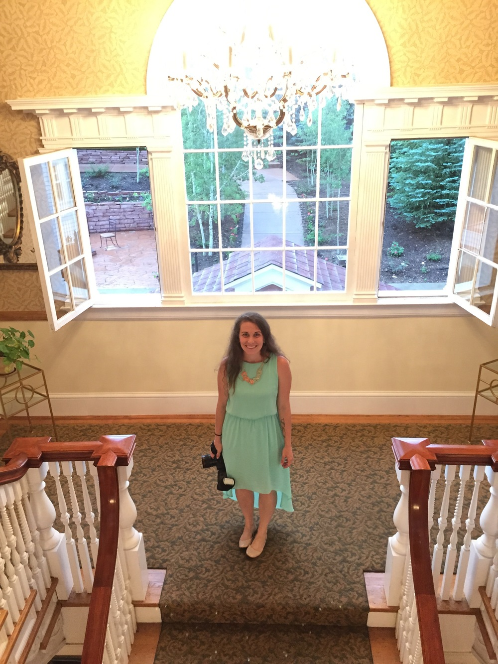 At the Stanley Hotel for Camila's wedding