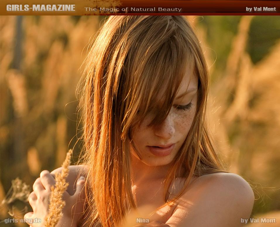 Nina auf dem Cover von girls-mag