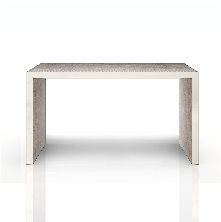 CONSOLE TABLE IN LOJA IN SILVER WITH SILVERED TRIM