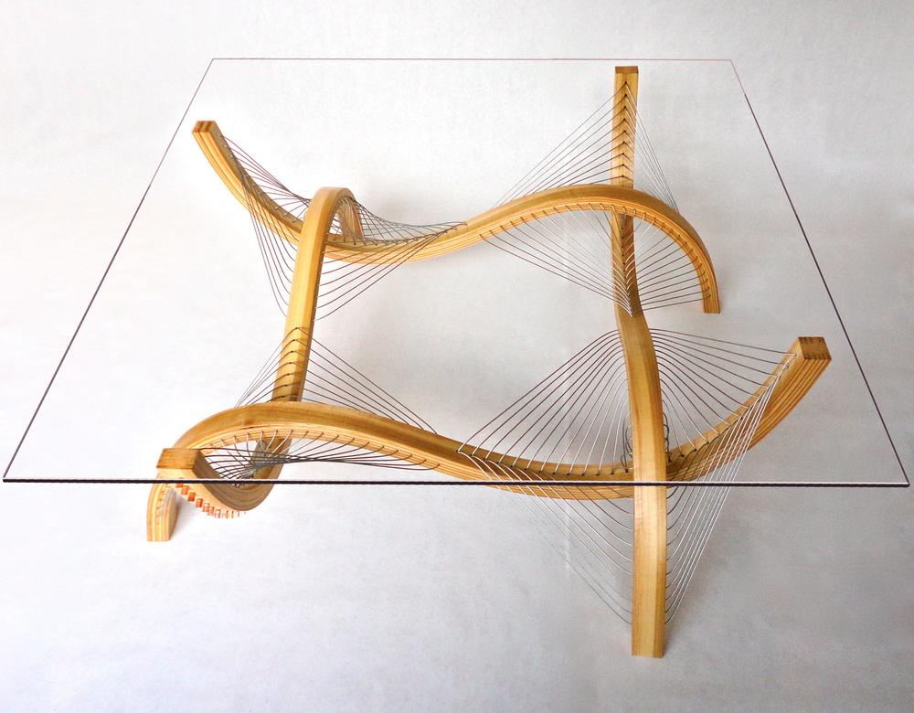Contour Coffee Table in Poplar